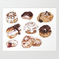 Donuts Art Print