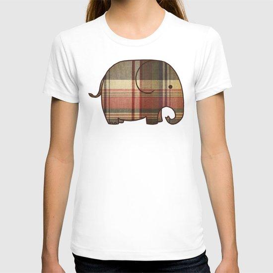 Plaid Elephant  T-shirt