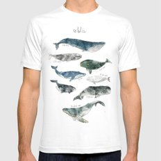 Whales SMALL White Mens Fitted Tee