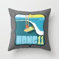 Hang 11 Throw Pillow