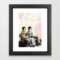 Bench Float Framed Art Print