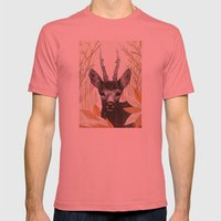 among the leaves (morning) Mens Fitted Tee Pomegranate SMALL