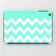 Mint Chevron Colorblock iPad Case