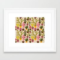 Cactus Cuties Framed Art Print