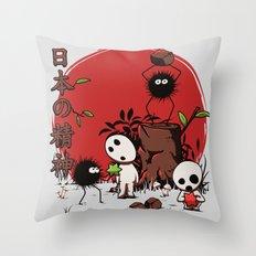 Kodamas & Susuwataris Throw Pillow