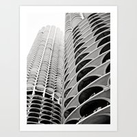 Chicago's Marina City Art Print