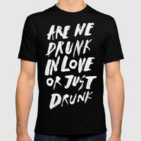 DRUNK Mens Fitted Tee Black SMALL