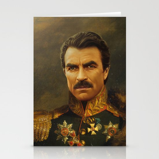 Tom Selleck - replaceface Stationery Card