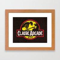 CLASSIC ARCADE Framed Art Print