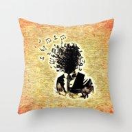 Throw Pillow featuring So Much Music Inside by MehrFarbeimLeben