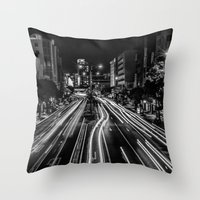 Naha Traffic Throw Pillow