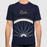 Ride Mens Fitted Tee Navy SMALL