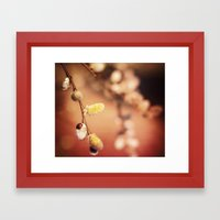 FLUFFY RED Framed Art Print