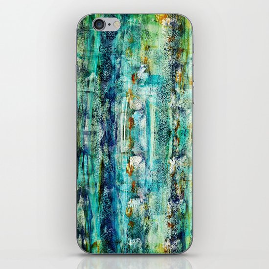 floating / blue iPhone & iPod Skin