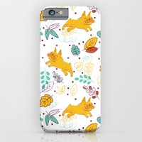 iPhone & iPod Case featuring Frenchie Pattern by Julia Lavigne