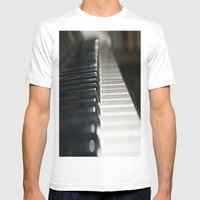 Piano Mens Fitted Tee White SMALL