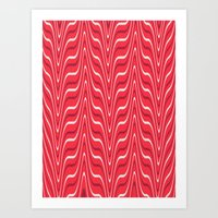 Red Zebra Art Print