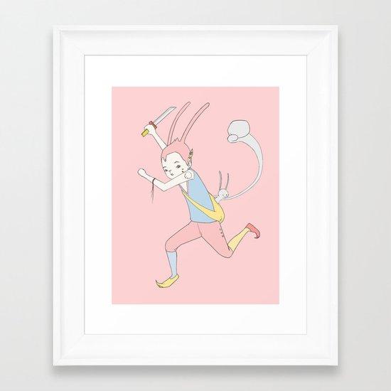 反擊 COUNTER PUNCH Framed Art Print