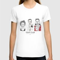 Fight Club - Triptych Womens Fitted Tee White SMALL