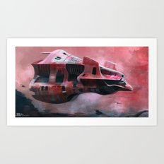 Space ship  Art Print