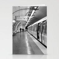 Paris, métro Stationery Cards