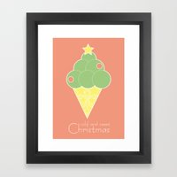 Cold And Sweet Christmas Framed Art Print