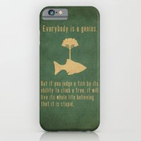 quote iPhone & iPod Cases featuring Einstein by Tracie Andrews