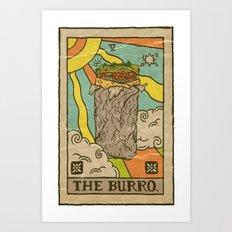 The Burro. Art Print