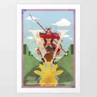 Vintage FF Poster V Art Print