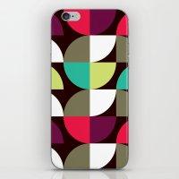 Quater circle shape pattern iPhone & iPod Skin