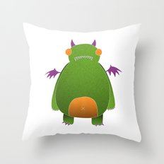 Green Monster Throw Pillow