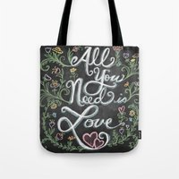 All You Need is Love Chalkboard Art Tote Bag