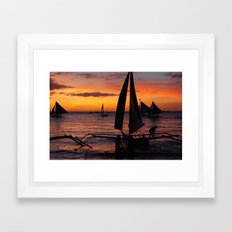 Borocay Sunset Philippines Framed Art Print