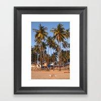 Palm Lined Beach Palolem Framed Art Print