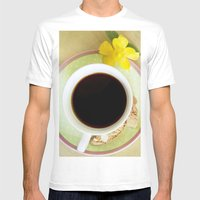 Coffee Time 3 Mens Fitted Tee White SMALL