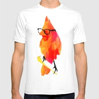 Punk bird Mens Fitted Tee White SMALL