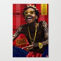 Canvas Print featuring Wiz Khalifa by SPIFF ART