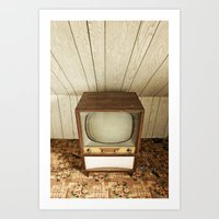 Televised V Art Print