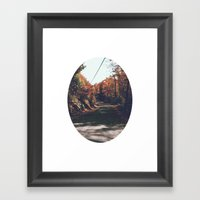 Kenisis Lake Fall Road Framed Art Print