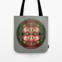 Four Flower Globe Tote Bag