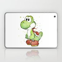 Yoshi Watercolor Mario Laptop & iPad Skin