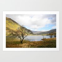 Cregennen Lake, Snowdonia Art Print