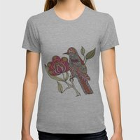 Beatriz Womens Fitted Tee Athletic Grey SMALL