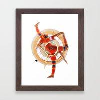 Pivot | Collage Framed Art Print