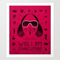 Will.i.am Shakespeare Art Print