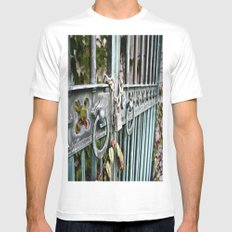 Locked White Mens Fitted Tee SMALL