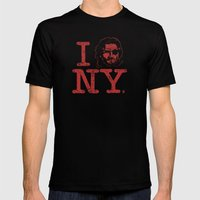 I (Snake) NY Mens Fitted Tee Black SMALL