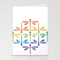 Rainbow Damselflies Stationery Cards