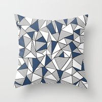 Abstraction Lines With N… Throw Pillow