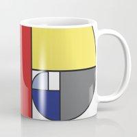 Mondrian vs Fibonacci Mug